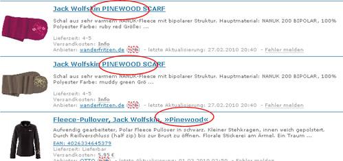 Jack Wolfskin klaut bei Pinewood