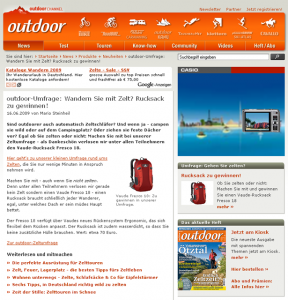 Outdoor Magazin