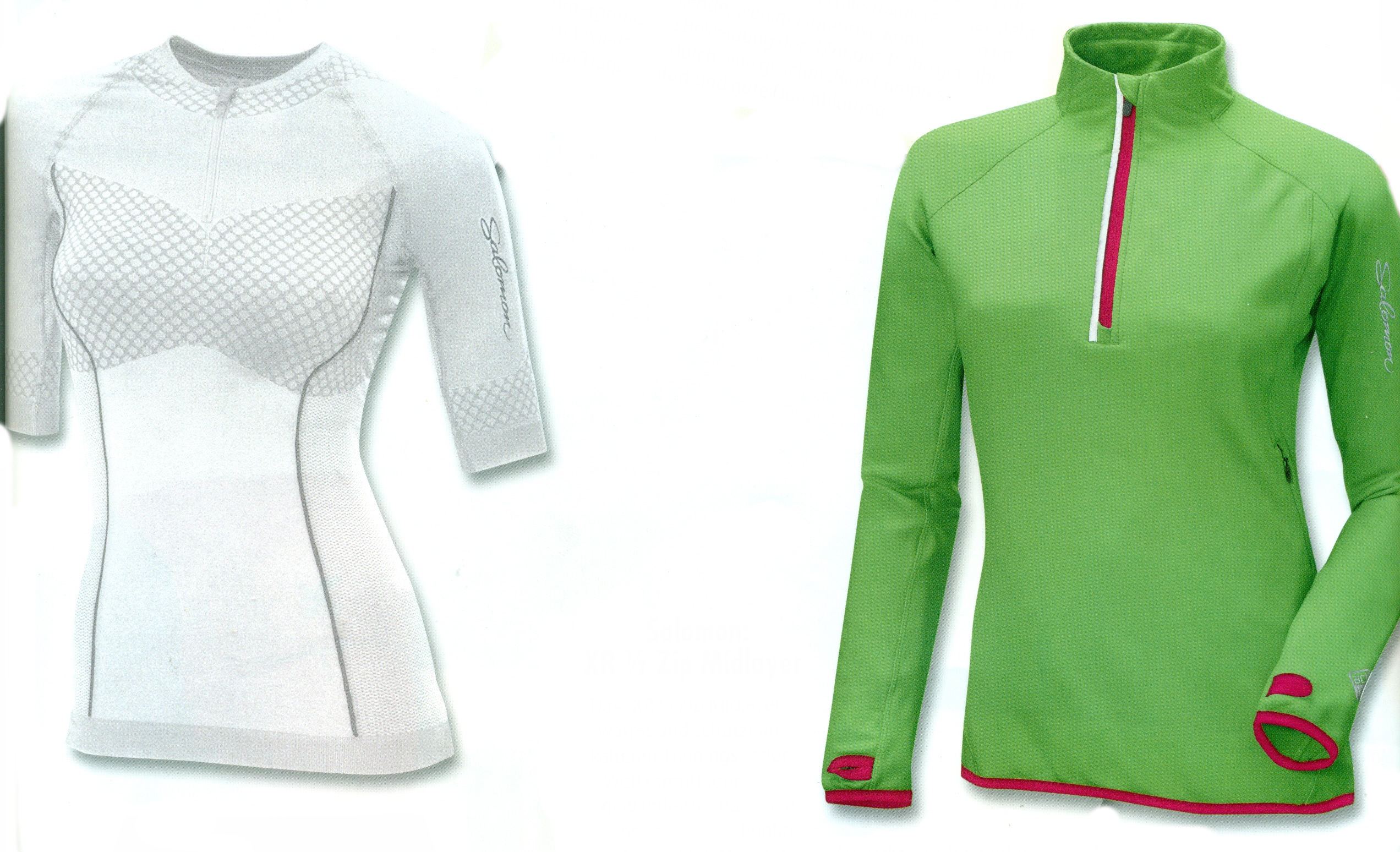 Salomon: XR 1/2 Zip Tech Tee & XR 1/2 Zip Midlayer